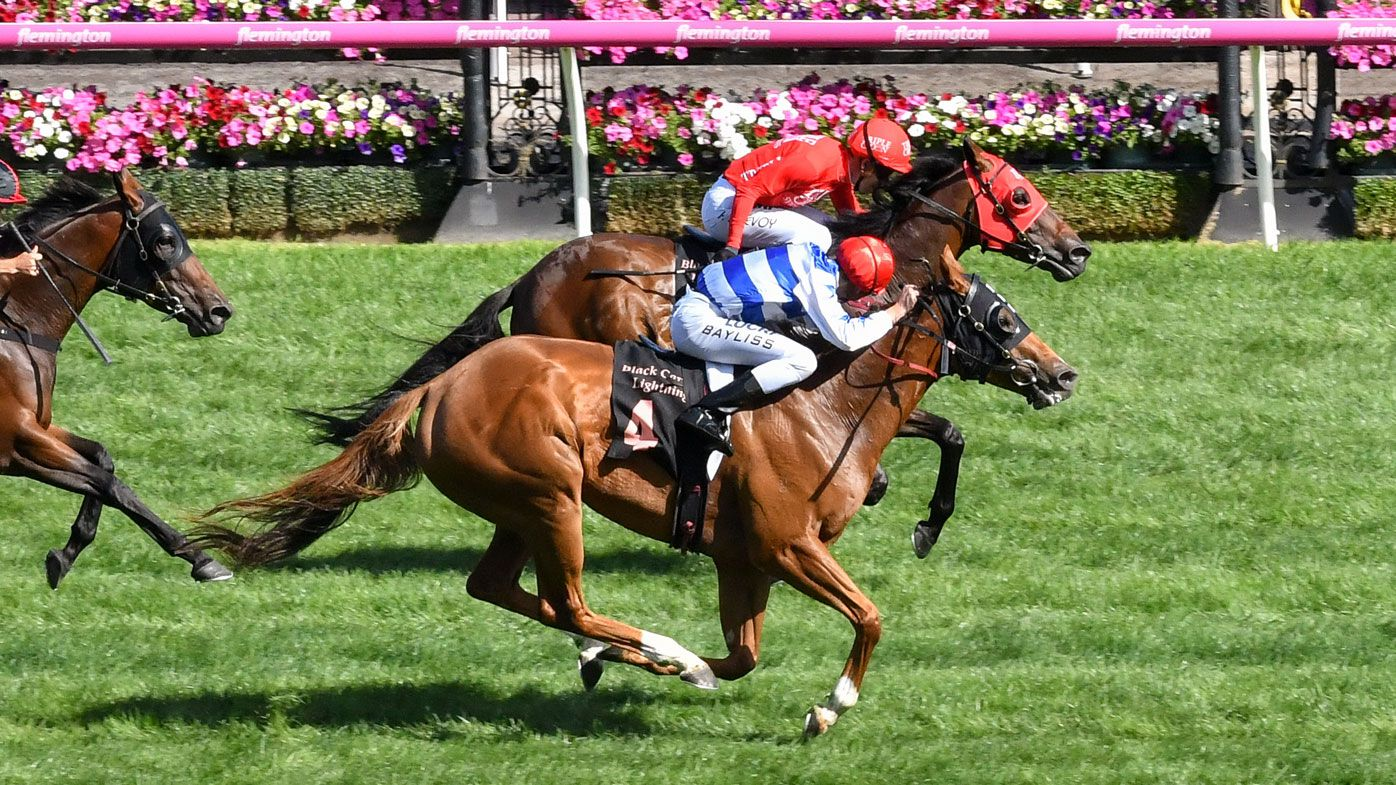 Redkirk Warrior wins Group One Lightning with photo finish over Redzel