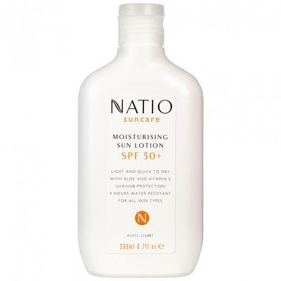 "<p><strong>Sunscreen</strong></p> <p><a href=""https://www.priceline.com.au/natio-broad-spectrum-sunscreen-spf-50-200-ml"" target=""_blank"">Natio Broad Spectrum Sunscreen SPF 50+ 200 ml, $15.95</a></p>"