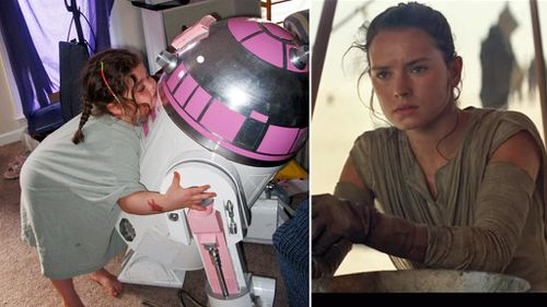 Homemade droid to appear in new Star Wars film as tribute to young fan