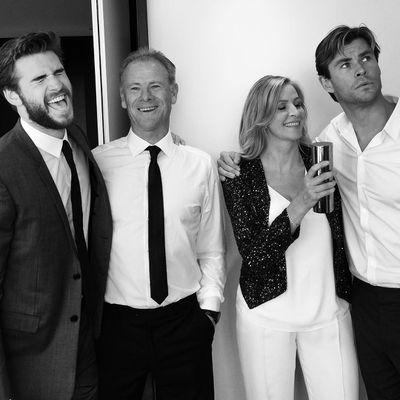 Chris Hemsworth, Craig Hemsworth, Leonie Hemsworth and Luke Hemsworth