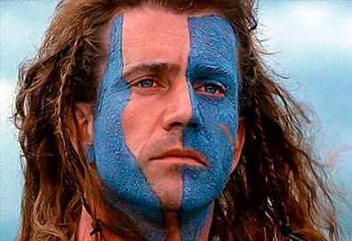 Mel Gibson as William Wallace in Braveheart (Icon)