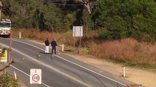 The father was found burned at the side of a Lake Macquarie road.