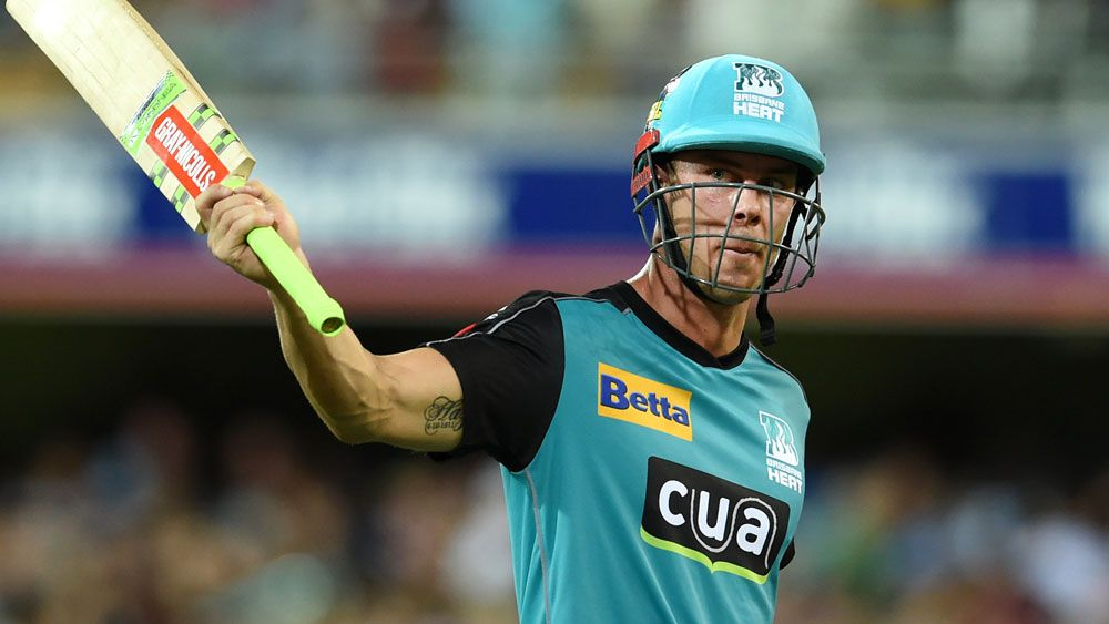 Chris Lynn put on a show at the Gabba. (AAP)