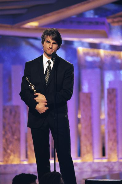 Tom Cruise won Best Actor at the Golden Globes for Jerry Maguire in 1997.
