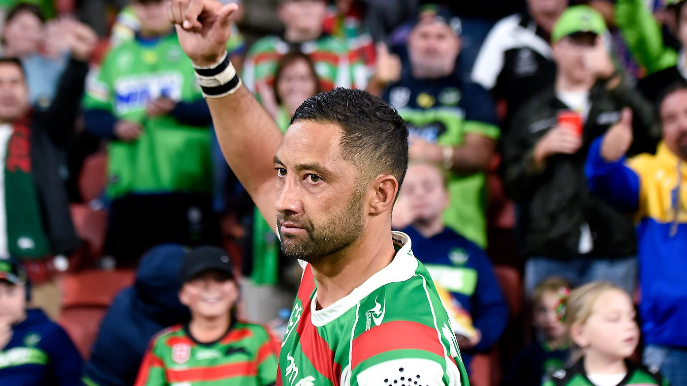 Benji Marshall salutes the Brisbane crowd