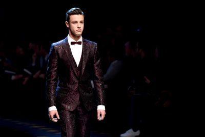 <p>Cameron Dallas p social media star. He opened the show, despite never having modelled before.</p> <p>Image: Getty.</p>
