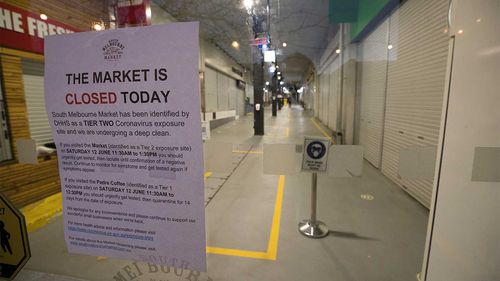 South Melbourne Market is closed because of a coronavirus-positive visitor.