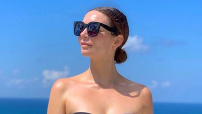 Ricki-Lee holidays in Bali, wears swimsuit