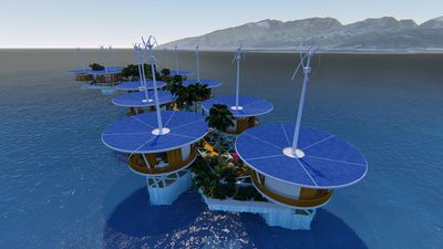 The floating islands will be administered by a separate start-up, Blue Frontiers. (Blue Frontiers)