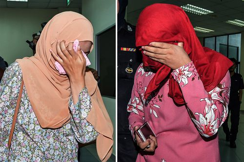 The two Muslim women, aged 22 and 32, were punished for attempting to have lesbian sex in a car