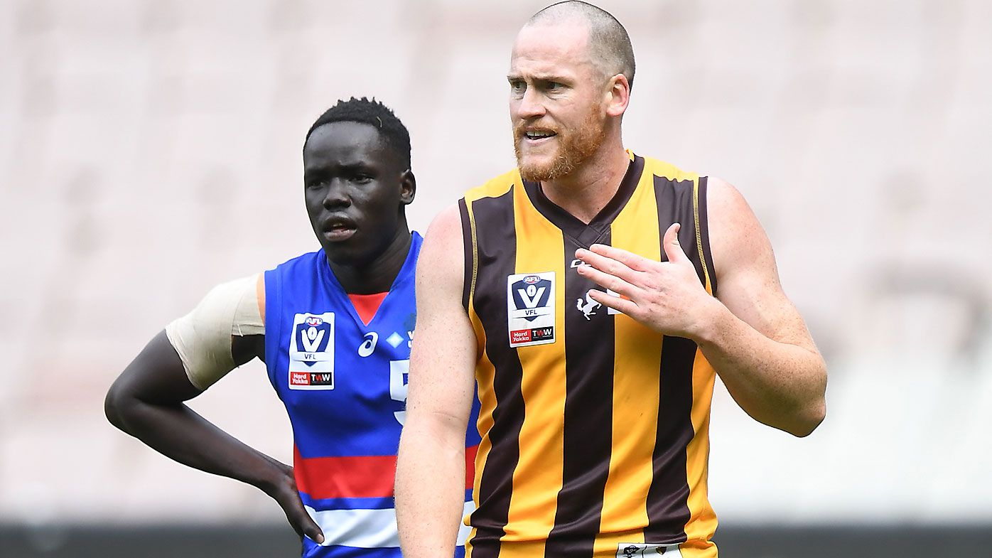 Hawthorn veteran Jarryd Roughead's incredibly classy gesture to VFL opponent