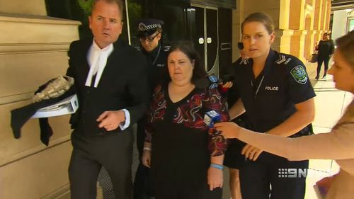 Katrina Siciliano was in court today over the death of 62-year-old Diane Hoskin. (9NEWS)