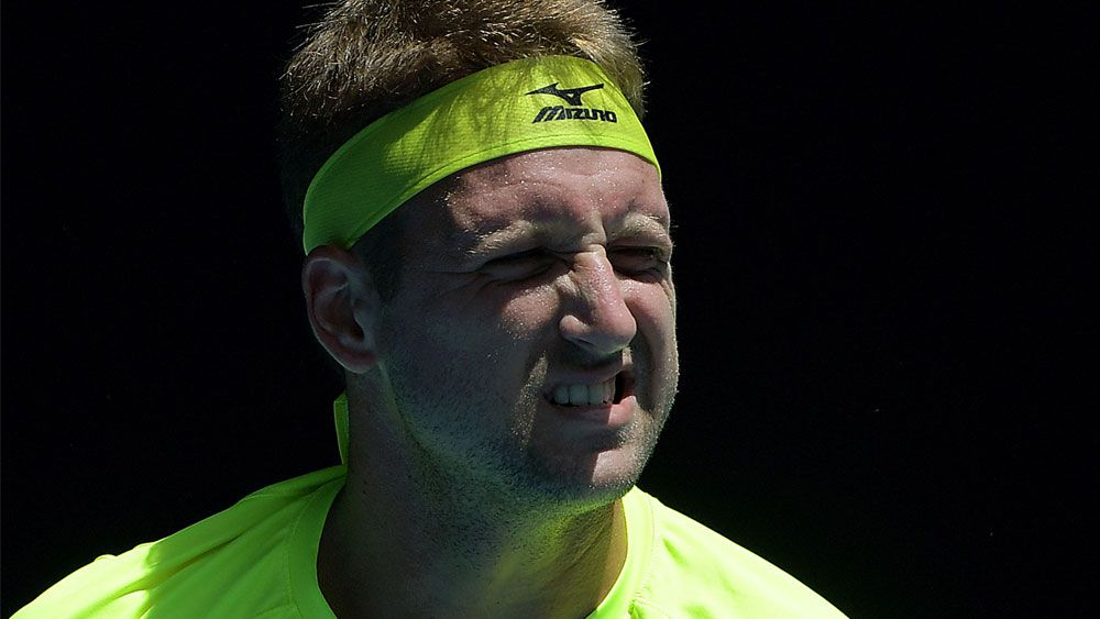 Tennys Sandgren slaps media with a backhander after Australian Open exit