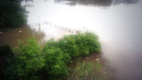 The Georges River burst its banks, flooding homes in Sydney's southwest. (9NEWS)
