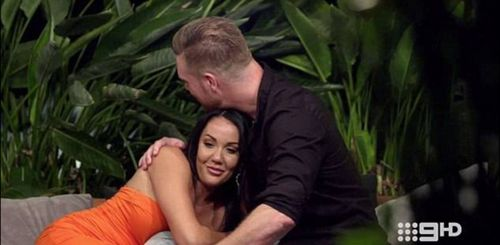 Davina and Dean caused outrage when they started an on-screen affair on reality TV show 'Married At First Sight'. (Channel Nine)
