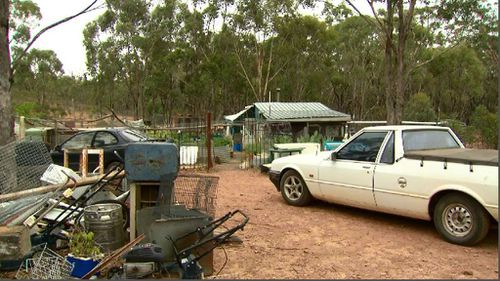 The shooting took place at this property in Victoria's west. (9NEWS)