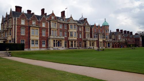The main house on the royal estate of Sandringham in Norfolk, eastern England.