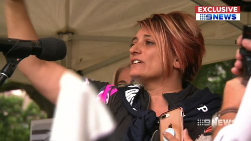 His mother Patrizia Cassanti spoke for the first time at the Union May Day March in Sydney.