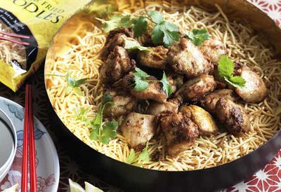 """Recipe: <a href=""""http://kitchen.nine.com.au/2016/05/20/11/03/malaysian-fried-chicken-noodle-salad"""" target=""""_top"""">Malaysian fried chicken noodle salad</a>"""