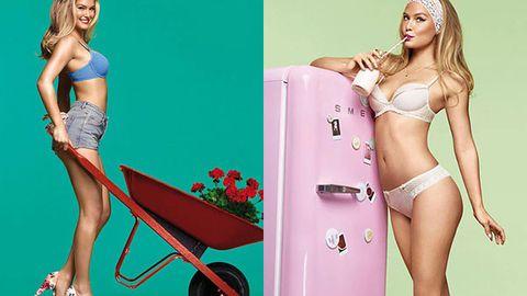 Yum: Bar Refaeli's racy retro-inspired lingerie photo shoot