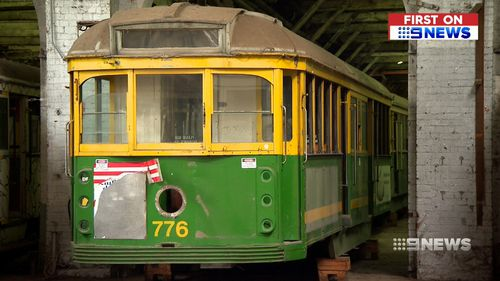 The Victorian government will soon sell off the iconic tram carriages to members of the public, schools and community groups. Picture: 9NEWS.