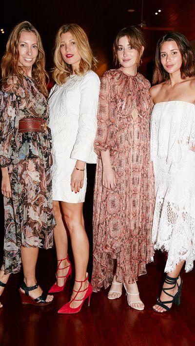 <p>Stylist Romy Frydman and model Tanja Gacic with bloggers Carmen Hamilton and Sara Donaldson.</p>