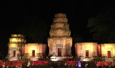 Built between 800 and 1220AD, Angkor Wat was a miniature replica of the universe in stone, representing an earthly model of the cosmic world.