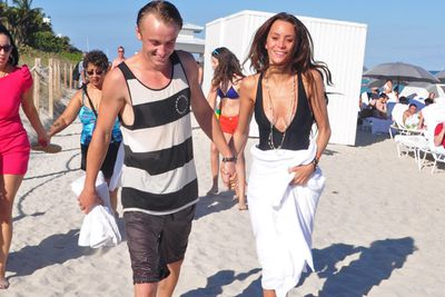 Tom Felton treated his girlfriend, Jade Olivia, to a getaway in Miami.