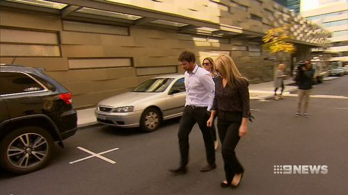 Aine McGrath pictured leaving court during an earlier appearance.