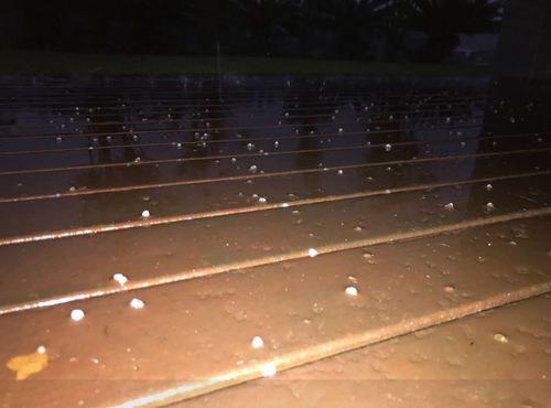 Hail hits the Gold Coast