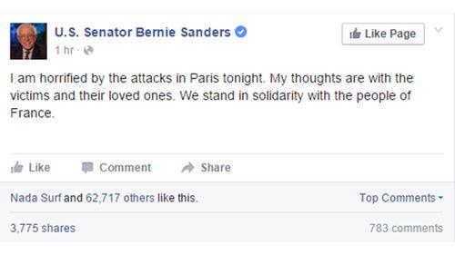 US Senator Bernie Sanders. (Facebook/U.S. Senator Bernie Sanders)