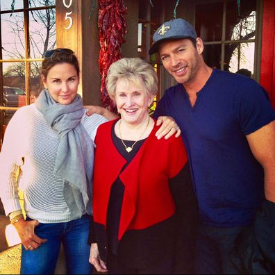 Harry Connick Jr and his wife and mother-in-law.