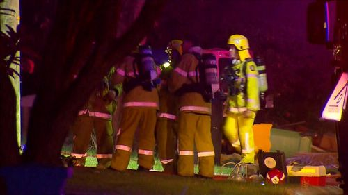 The arson squad is on scene trying to determine the cause of the blaze. Picture: 9NEWS