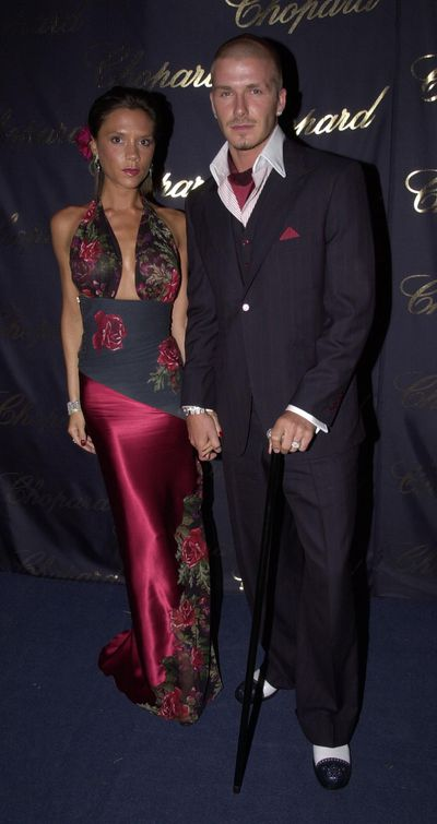 <p><strong>Glam Squad</strong></p> <p>Victoria and David Beckham at Elton John's Aids Foundation Annual White-tie and Tiara Ball in Windsor UK, July, 2001.</p>