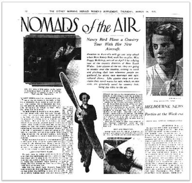 News article about Nancy Bird.