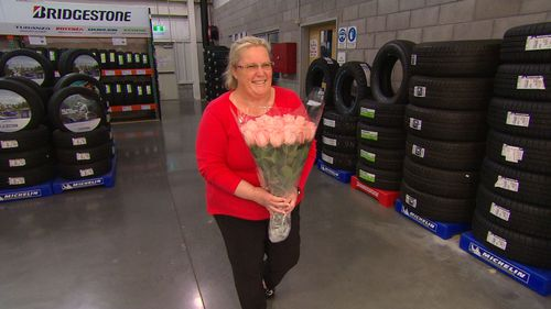 Sue Berkeley is getting married at Costco.