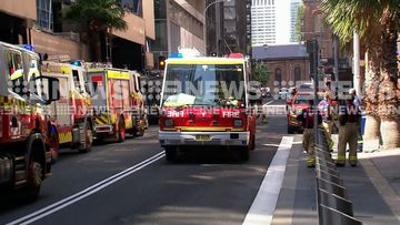 Much of Phillip Street was in lockdown as emergency services rushed to the location.