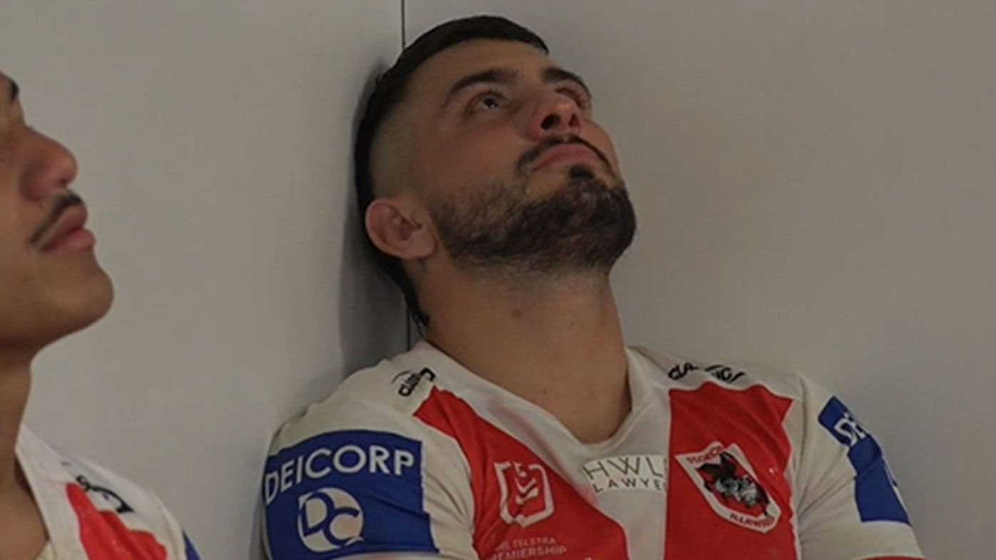 'That's how much it means': Dragons centre Jack Bird reduced to tears after loss to Cronulla