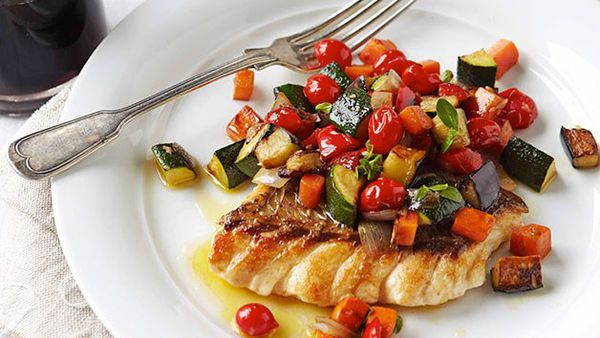 Ratatouille with snapper