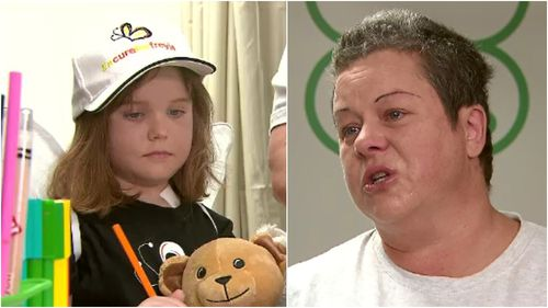 """Freyja's mother spoke to 9NEWS today about her daughter's """"miraculous"""" journey to better health. (9NEWS)"""