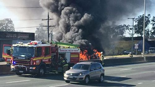 Tanker explodes on Queensland's M1. (Facebook: Mona Maliko)