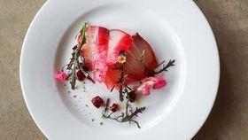 Hiramasa kingfish, beetroot tartar and horseradish cream