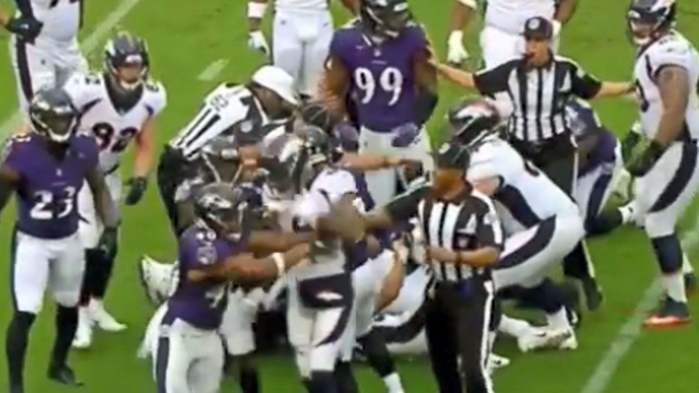 Breakout NFL star Phillip Lindsay ejected for throwing punches in loss to Baltimore Ravens