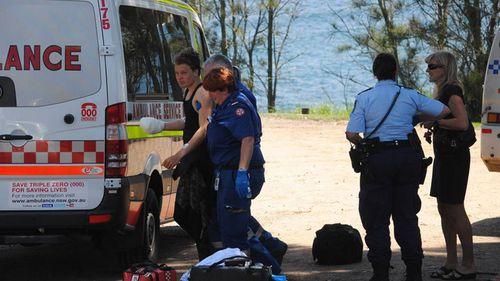 The boy was transported to hospital by ambulance. (Glenn Ellard/Milton Ulladulla Times)