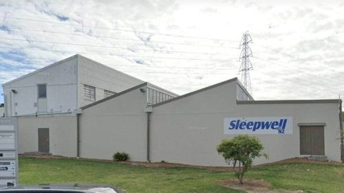 The mattress plant where the man was hurt in Auckland, New Zealand.