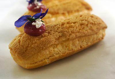 "Recipe: <a href=""http://kitchen.nine.com.au/2016/05/05/09/53/matt-morans-carmelia-clair"" target=""_top"">Matt Moran's carmelia éclair</a>"