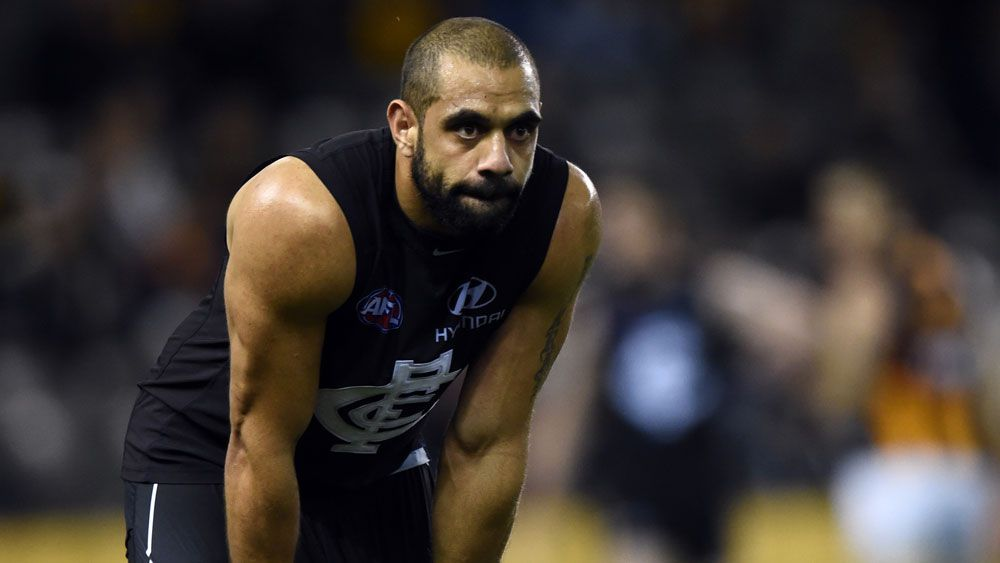 Chris Yarran during his playing days in the AFL. (AAP)