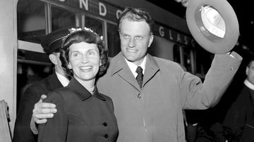Billy Graham with his wife Ruth. (AAP)