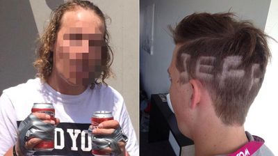 At least silly haircuts grow back ... eventually.(Schoolies Photos Best and Embarrassing 2014)