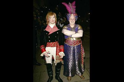 The <i>Little Britain</i> comedian proved he wasn't the only gay in the village when he married his long time partner, the late Kevin McGee. The two grooms and all 400 guests, including Elton John, dressed up as Christmas pantomime characters.